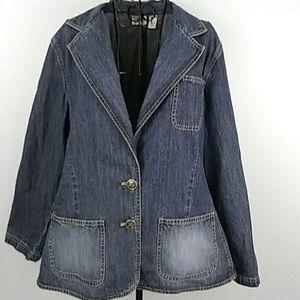 Chico's soft denim jean jacket sizeXL/16(3)